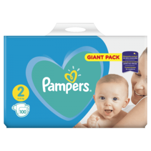 Giant Pack Pampers New Baby-dry Mini 2 (4-8kg) 100 szt.
