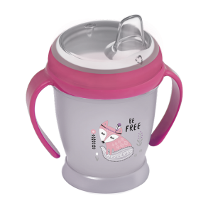 Lovi Kubek  Niekapek Mini 210ml Indian Summer Szaro-Różowy  9+