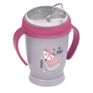 Lovi Kubek  Niekapek Mini 250 ml Indian Summer Szaro-Różowy  12+