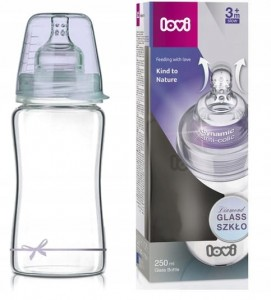 Lovi Szklana butelka Diamond Glass Baby Shower Boy 250 ml
