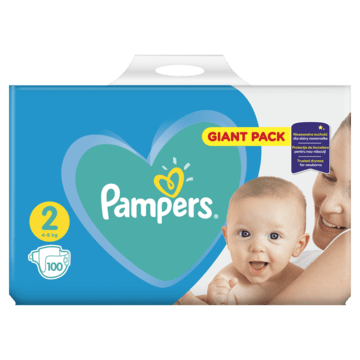 Giant Pack Pampers New Baby-dry Mini 2 (3-6kg) 100 szt.
